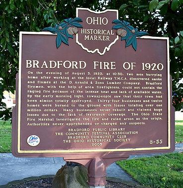 Bradford Fire Historical Marker.JPG