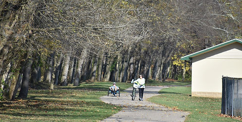 On the Bike Path in Tipp City Sit Down,