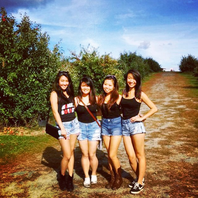 Apple Picking with Sisters