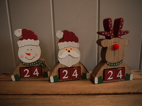 Rustic Wooden Advent Calendar -Snowman