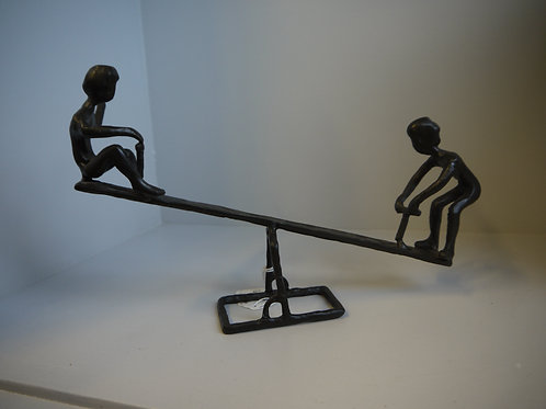 Metal Figurines - See-Saw Fun!