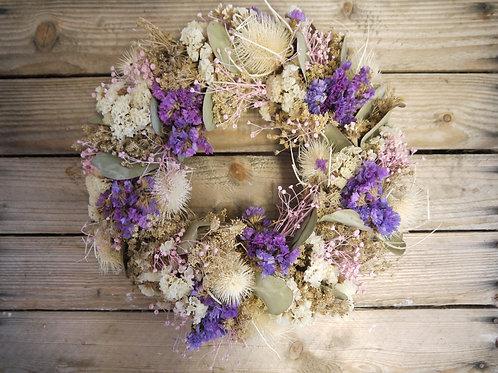 Dried Wreath - Blue