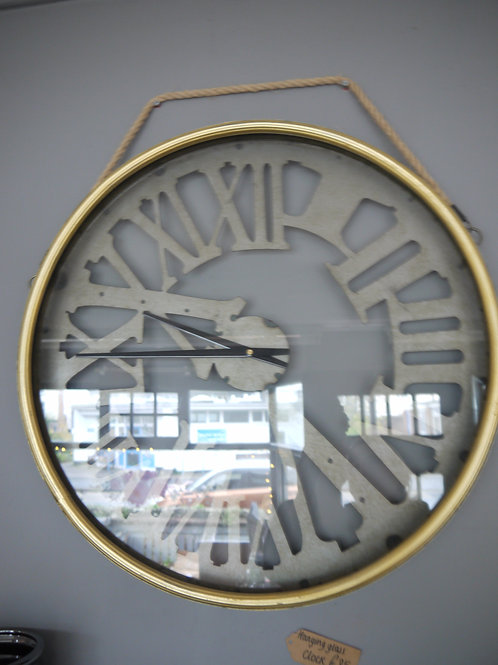 Hanging Glass Face Roman Numerals Clock