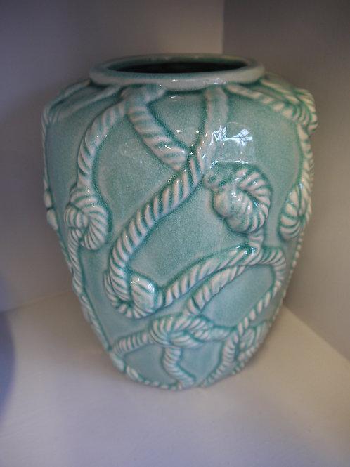 Blue Knot Crackle Vase