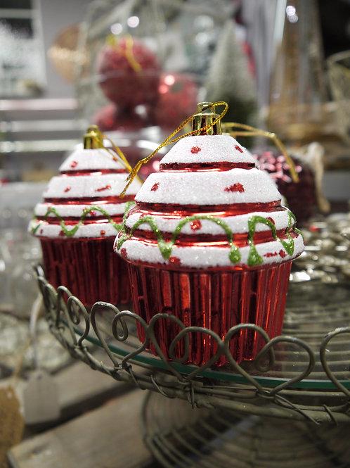 Christmas Cupcake Decoration - Acrylic