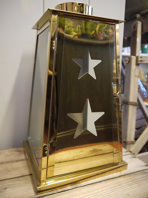 Brass & Glass Star Lantern