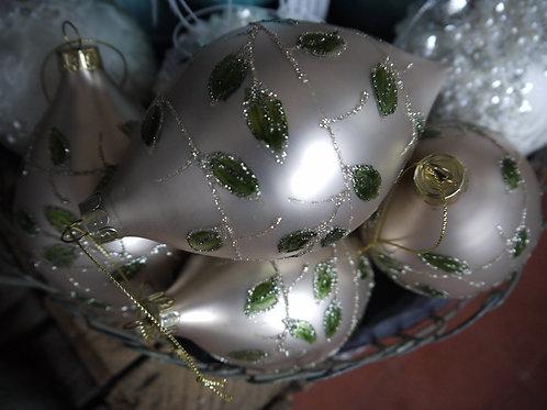 Gold Glass Mistletoe Bauble