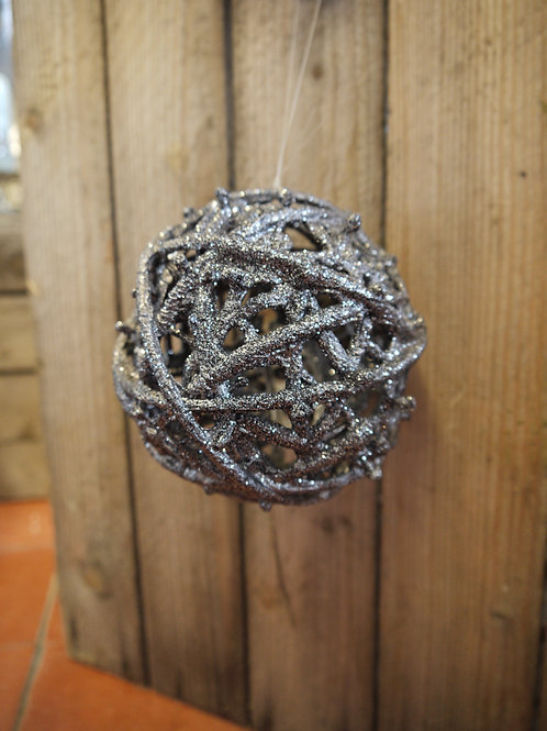 Pewter Sparkle Twiggy Bauble