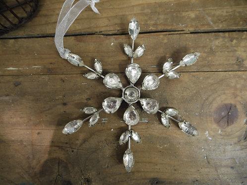 Metal Silver Diamanté Snowflake