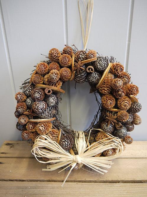 Dried Fruit & Cone Handmade Wreath