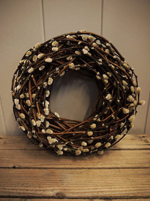 Dried Pussy Willow Wreath