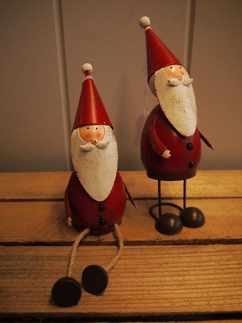 Rustic Metal Sitting Santa