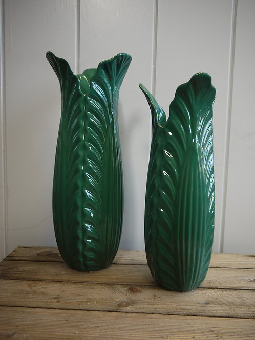 Deep Green Honesty Vase - Medium
