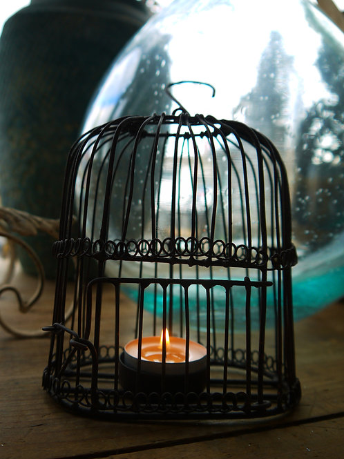 Vintage Wire Birdcage Tealight Holder
