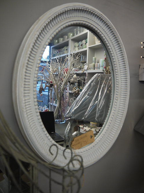 Grey Wash Wooden Decorative Mirror