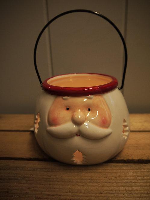 Ceramic Santa Lantern