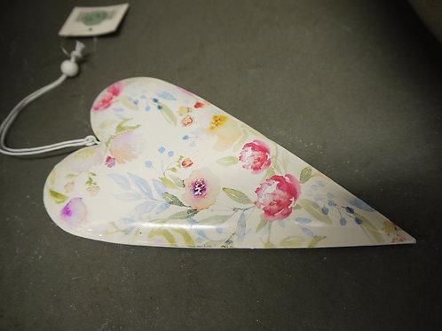 Metal Hanging Heart - Pastel Floral