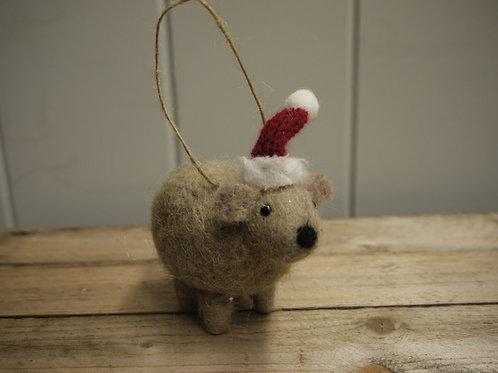 Wool Christmas Animal Decoration - Wilma Wombat