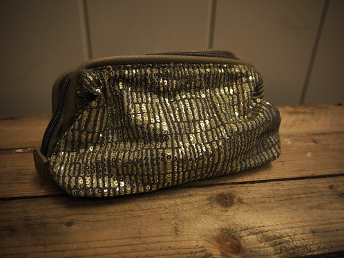 Sequin Boned Clutch Makeup Bag