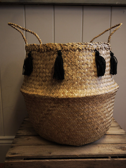 Belly Basket - Black Tassel -Large
