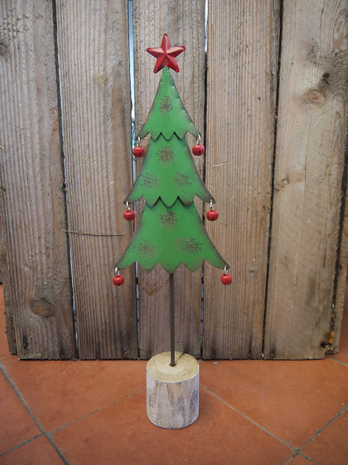 Rustic Metal Christmas Tree With Bells - Large
