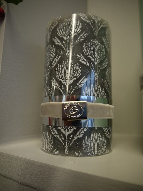 Dark grey Wash Patterned Lene Bjerre Candle