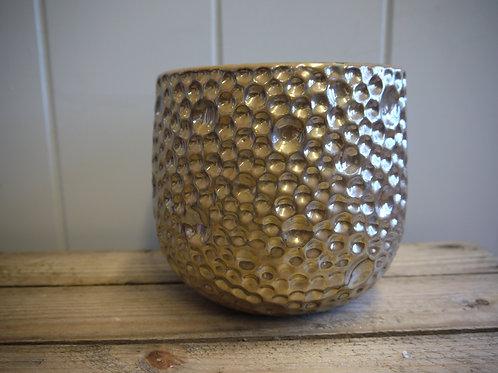 Gold Iridescent Dimple Pot