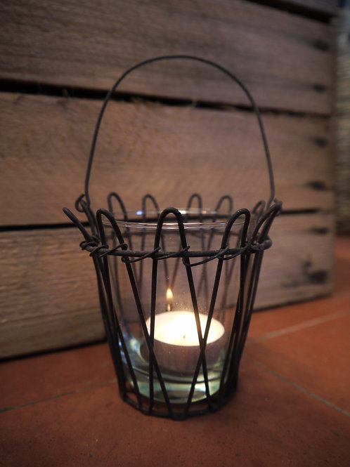 Rustic Wire Hanging Tealight Holder