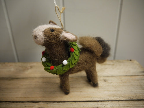 Wool Christmas Animal Decoration - Malcolm Mule