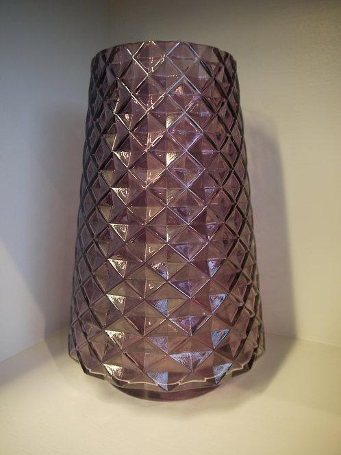 Purple Geo Pattern Glass Vase