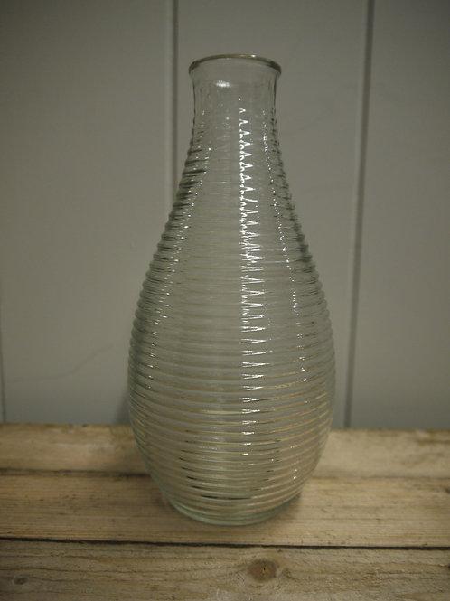Glass Tall Bud Vase - Stripy
