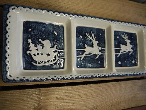 Midnight Festive Scene Nibble Plate