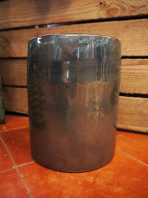 Iridescent Teal Hurricane Vase