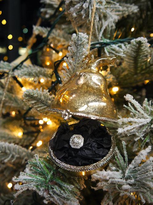 Gold Glass Trinket Pear