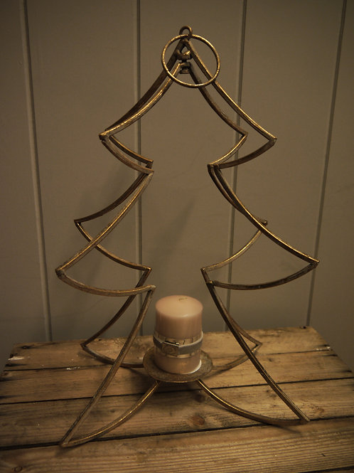 Antique Gold Tree Candle Holder