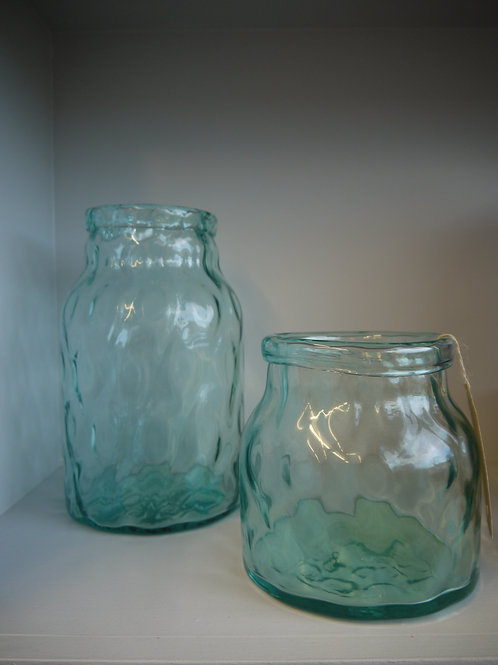 Hammered Glass Vase - Tall