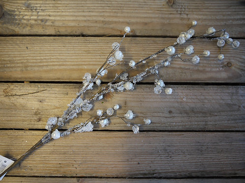 Iced Faux Pearl Branch