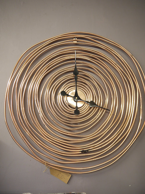 Copper Swirl Clock