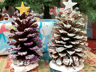 Holiday Wrap-Up and Pinecone Tree How-To