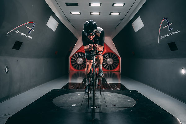 Cyclist in a Wind Tunnel with VeloVetta Shoes