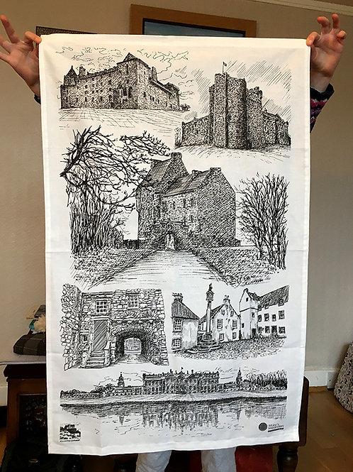 Edinburgh Sketcher - Outlander-inspired tea towel