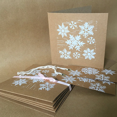 Suzanne Kemplay - set of 6 hand printed Christmas cards