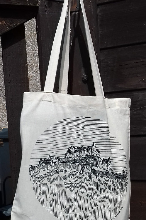 Edinburgh Sketcher - Edinburgh Castle tote bag