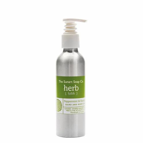 The Sunart Soap Co - Peppermint & eucalyptus hand & body cream 150ml