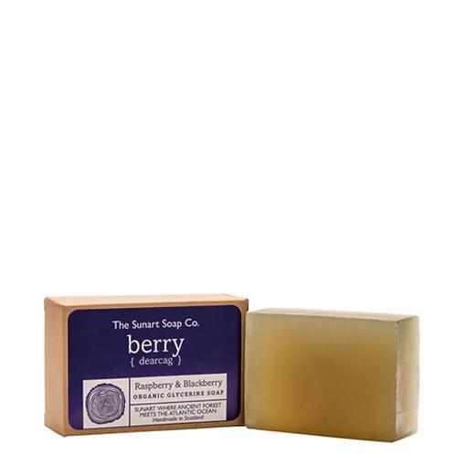 The Sunart Soap Co - Raspberry & blackberry organic glycerine soap 140g