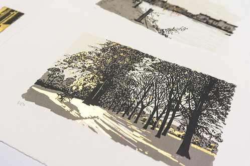 Screen printing using gold leaf: 11 October 2020 10.30am-5pm