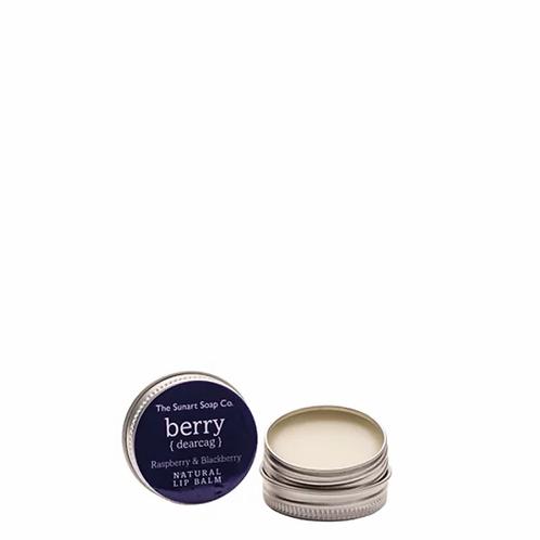 The Sunart Soap Co - Raspberry & blackberry lip balm 15g