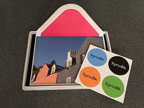 Sgrìobh writing cards: boxed set of 8 cards with stickers and envelopes