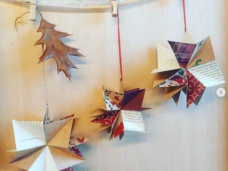 Free origami stars Christmas decoration video tutorial