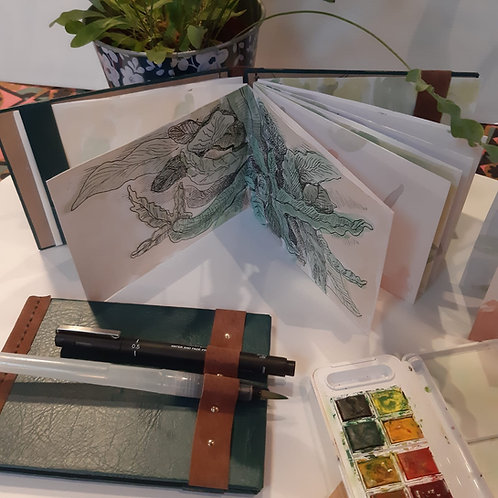 ONLINE Bookbinding & sketching course w/Zoom: 4 October 2020 | £80-£130
